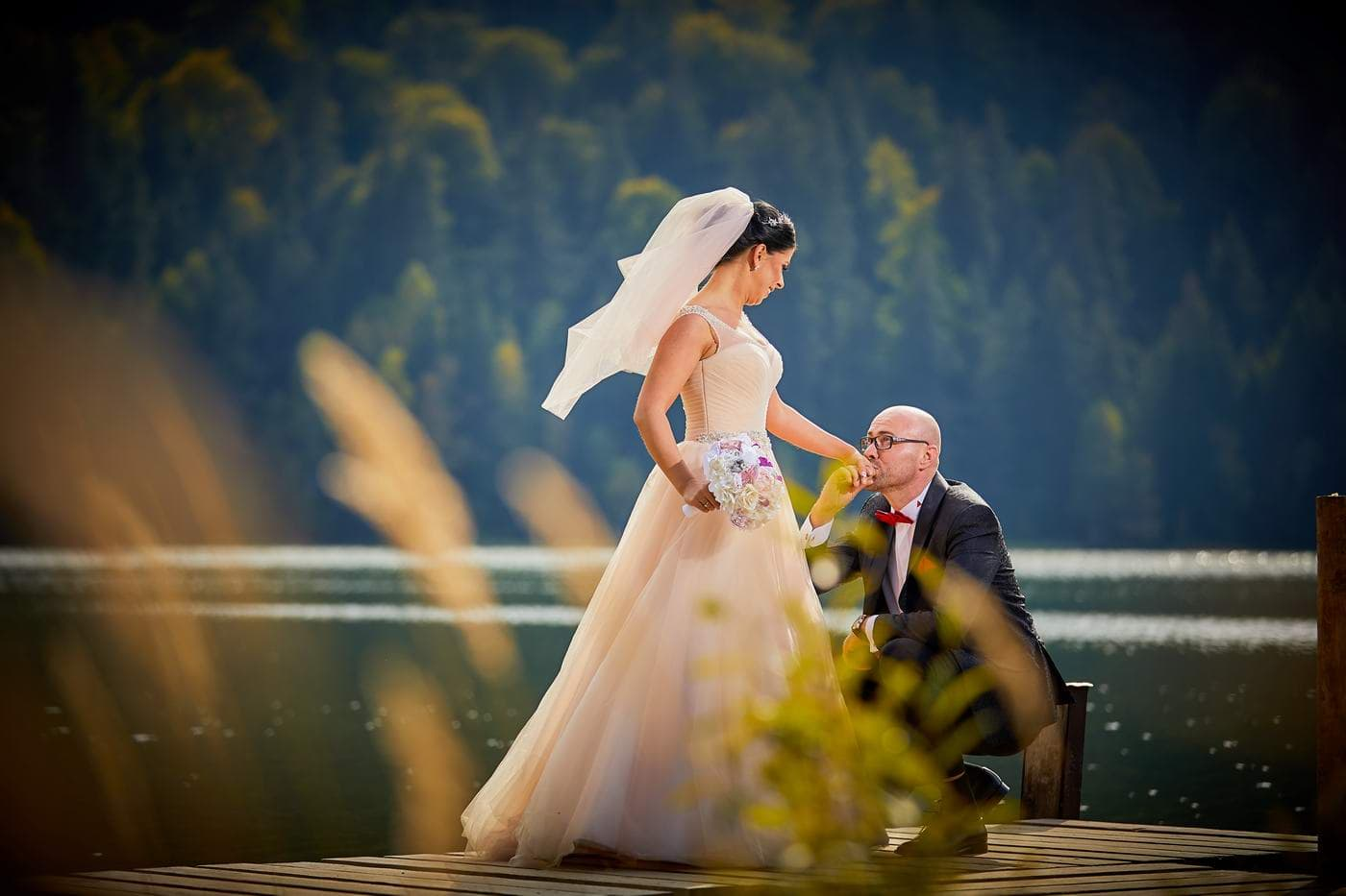 Trash the dress pe lac